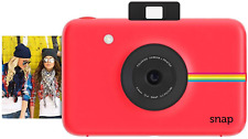 Zink Polaroid Snap Instant Digital Camera (Red) With Zink Zero Ink Printing Tech