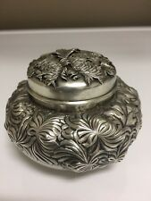 Shiebler Sterling Tea Caddy Awesome