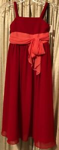 Flower Girl / Wedding Red Sleeveless Alfred Angelo  Size 5  New w/tags NWT