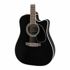 Takamine EF341SC Acoustic Guitar in Black Finish with Hard Case