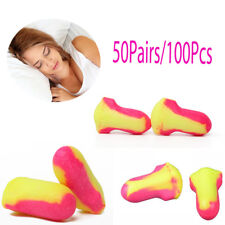 New 100Pcs Durable Foam Laser Lite Ear Plugs Useful 50 pairs Anti-Noise