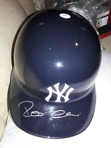 NY Yankees Robinson Cano Signed Full Size Game Issued Batting Helmet MLB STEINER