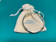 BRIGHTON ABC Silver Crystal  Toledo  Bangle Bracelet (B9) NWOT