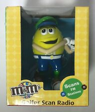 M & M GOLFER SCAN RADIO WITH EAR BUDS  NEW IN BOX