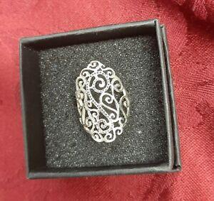 Sterling Silver Filagree Design Ring