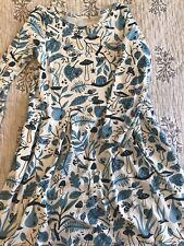 winter water factory girls blue bug print dress 8