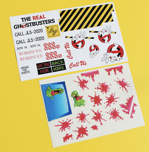 GHOSTBUSTERS ECTO1A 1/10 RC  stickers decal set Ecto 1 1A