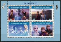 Chad Disney Stamps 2019 MNH Frozen 2 Elsa Olaf Cartoons Animation 4v M/S II