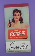 Coca Cola - Original c1940s Unused Bridge Score Pad