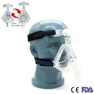 FDA Full Face Mask Auto C PAP Mask for Sleep Apnea Snoring Adjustable Headgear