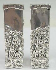 Judaica Silver David´s Tower Candleholders