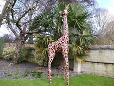 Superb Life Size hand painted Metal Giraffe. 2.3m Indoors/Statue/Film Prop