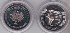 Deutschl. 5 € Subpolare Zone  2020 m. blauem Polymerring - Prägebuchstabe D