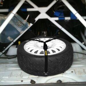 Ersatzradhalter, Reserveradhalter, Spanngurt, Rallye, Schwarz, Spare wheel strap