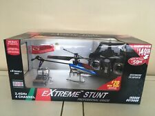 Extreme stunt 4D Full Function Helicopter, 2.4 GHz, 4CH, BLUE , NEW UNOPENED
