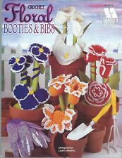 New listing Floral Booties & Bibs to Crochet ~ Annie's Attic #870012