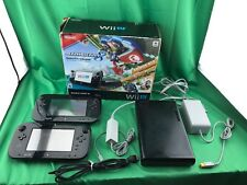 Nintendo Wii U Complete Set - Black - W/ Two Controller & Charger/ Adapter