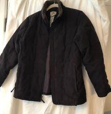 L.L. Bean Women's Coat down jacket  MP MED P DARK BROWN Sherpa Faux Suede