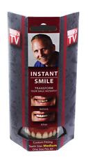Instant Smile Teeth Medium Top Veneers, Fake Cosmetic Denture, Clean White Smile