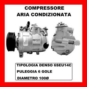 COMPRESSORE ARIA CONDIZIONATA AUDI A4 AVANT 1.9 TDI DAL 2003 KW96 CV130 AVF AWX