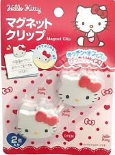 SANRIO HELLO KITTY KAWAII Happy Cute Clip with magnet 2 pieces F/S AIRMAIL JAPAN