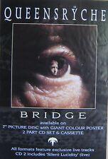 "40x60"" Huge Subway Poster~Queensryche 1994 Bridge Promised Land Eyeball Original"