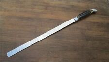 SUPER-FINE Pre-Owned Vintage QUEEN CUTLERY CO. Chef's Ham/Roast Knife w/Stag