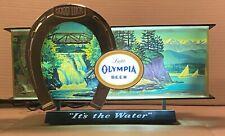 Vintage Olympia Beer Waterfall Motion Light Cash Register Back Bar Sign
