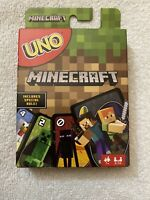 UNO New Limited Edition Of Favorite Minecraft Card Game Mattel Mojang Sealed