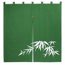 """Japanese 35"""" x 33.5"""" Cotton Bamboo Curtain Doorway Tapestry Noren, Made in Japan"""
