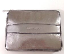 Michael Kors Clutch Bag iPad Case Nickel Embossed Leather RRP £155.00