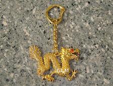 Feng Shui = 2017 Bejeweled Golden Dragon Keychain
