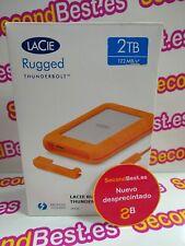 Disco duro portátil LaCie Rugged USB-C Thunderbolt  de 2TB Nuevo