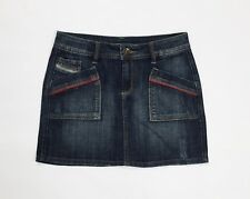 jims mini gonna jeans usato hot sexy denim blu W27 tg 41 vita alta disco T3982