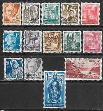 GERMANY - Fr. Zone - Rhineland - 1948 Currency Reform Defins - Set of 14, Used.