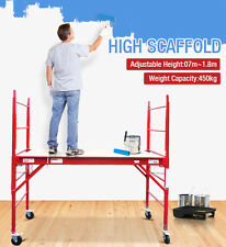 450KG Red Mobile Safety Scaffold Scaffolding High Painting Work Platform Ladder