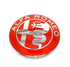 FRONT GRILLE EMBLEM LOGO BADGE REAR TAILGATE BADGE 74 MM ALFA ROMEO - RED