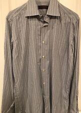 ETRO Milano Men's Dress Shirt Size Euro 40 US 16 Medium Made in Italy diamond