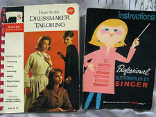 Singer 1967 Professional Buttonholer instructions & '61 Dressmaker Tailoring