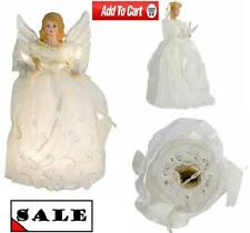 Beautifully Detailed Angel Tree Topper Lit by 10 lights Elegant Home Decorations