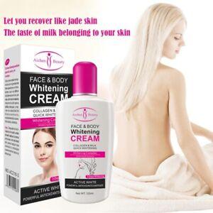 Milk Bleaching Face Cream Skin Whitening Moisturizing Safe Body Lotion Light