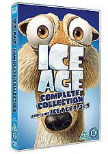 ICE AGE 1-2-3 COMPLETE COLLECTION - DVD - REGION 2 UK NEW SEALED R2