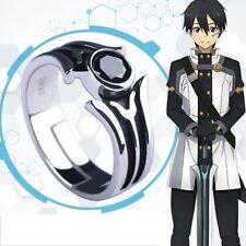 Sword Art Online Kirito SAO Kirito Kirigaya Kazuto 925 Silver Ring Cosplay Prop