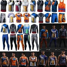 3D Tee Dragon Ball Z Goku Vegeta Sports Clothing Men's T-Shirt Short Long Pants