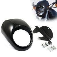 Headlight Cowl Fairing Mask Visor Cover For Harley Davidson Dyna Sportster FX