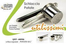 PRESSA SCHIACCIAPATATE ACCIAIO INOX UTILISSIMI CUCINA QEP-600906