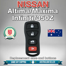 NISSAN Replacement Remote Case & 4 Buttons for INFINITI I35 ALTIMA MAXIMA 350Z