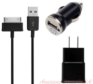 2.0A Wall +Car Charger +1 X 6FT USB Cable for Samsung Galaxy Tablet 10.1