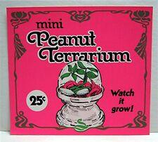 Mini Peanut Terrarium Gumball Vending Machine Toy Sign