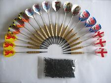 18 flechettes laiton darts à pointes plastiques + 100 pointes